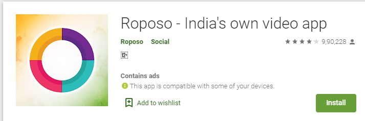 Roposo India's own video app made in india