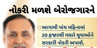 More than 20 thousand Jobs Opening In Gujarat Official Press note