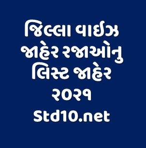 Holiday List 2021 Gujarat All District wise Declare Now